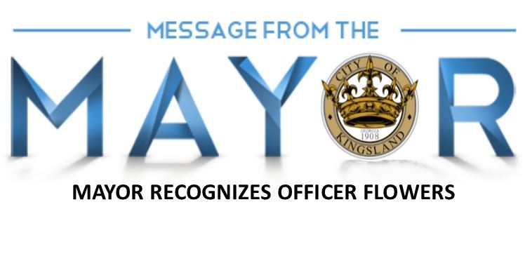 MESSAGE FROM THE MAYOR OFFICER FLOWERS