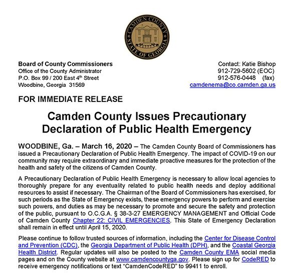 declaration of public health emergency