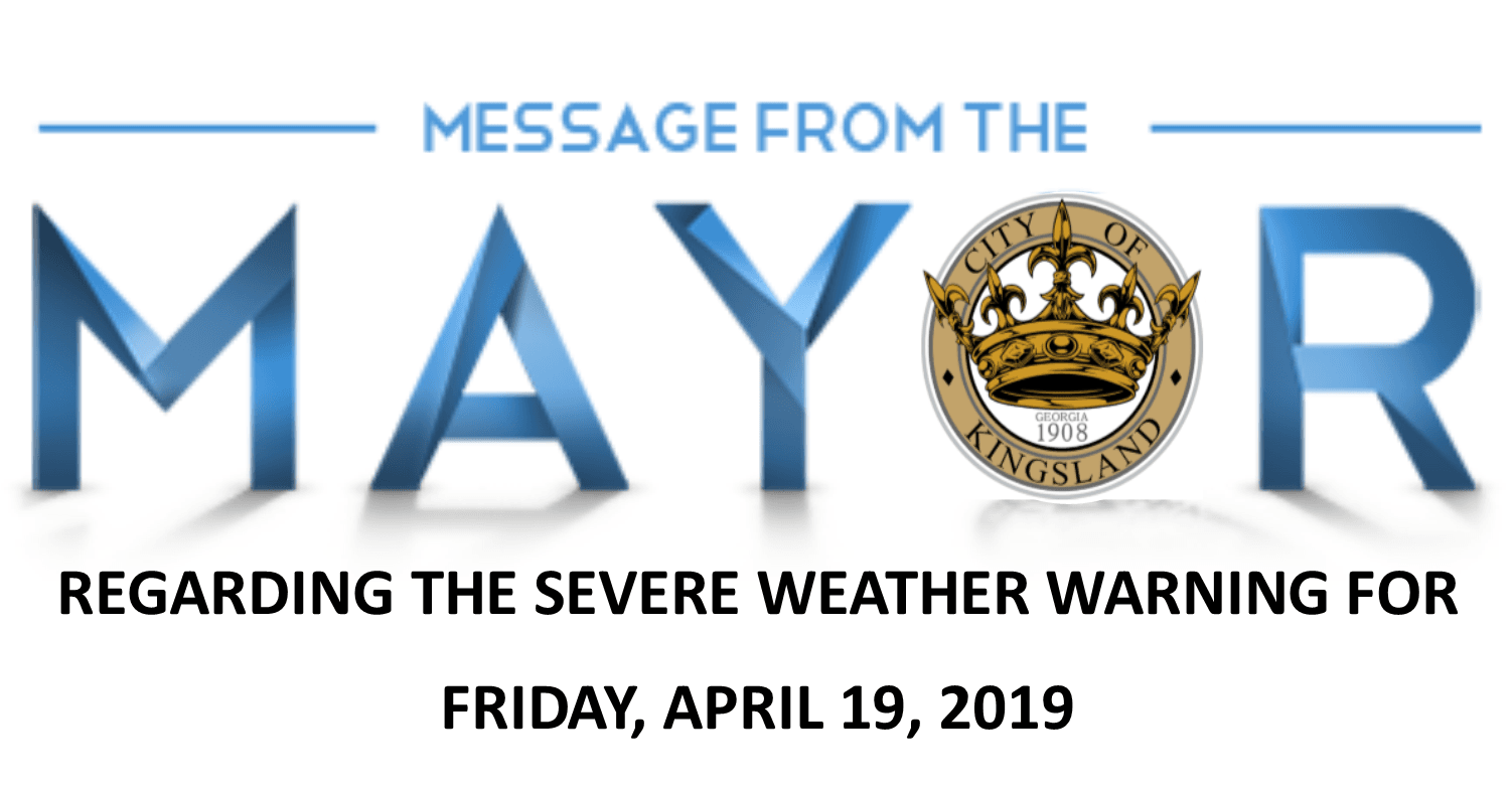 Message from the mayor _ severe storm April 19