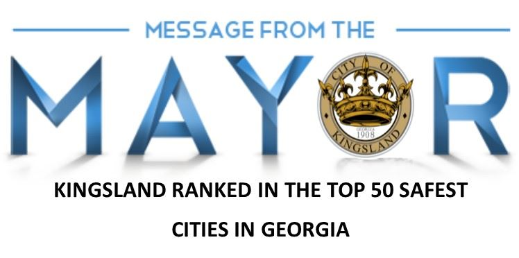 MESSAGE FROM THE MAYOR TOP 50 SAFEST CITIES